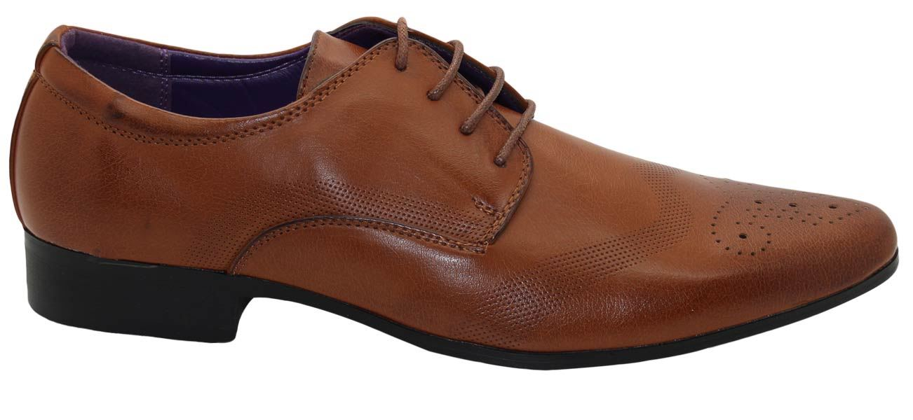 Mens-UK-Style-Leather-Lining-Formal-Office-Wedding-Smart-Work-Brogue-Shoes thumbnail 115
