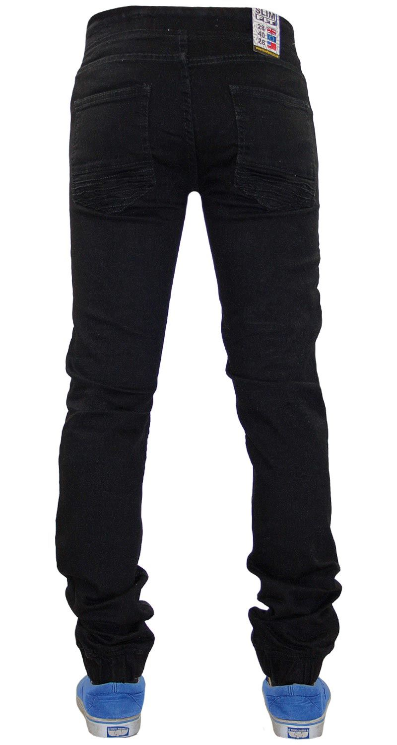 Mens-Ripped-Jeans-Slim-Fit-Distressed-Denim-Biker-Pants-Casual-Cuffed-Trousers thumbnail 9