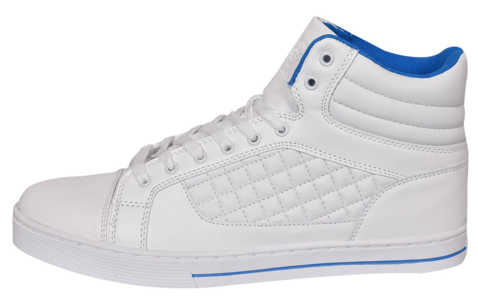 Mens-Trainers-Lace-up-Crosshatch-High-Tops-Ankle-Padded-Shoes-New-UK-Sizes-7-12 thumbnail 20
