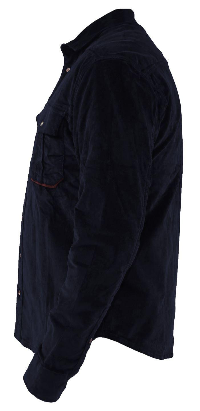 Mens-Corduroy-Cotton-Shirt-Long-Sleeve-Casual-Shirts-Jacksouth-Jacket-Top-S-2XL thumbnail 28