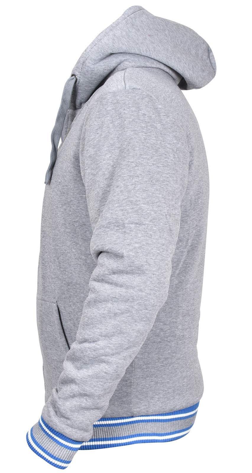 Mens Full Zip Hoodie Zone Sherpa Thick Fleece Lined Zip Up Hooded Sweater
