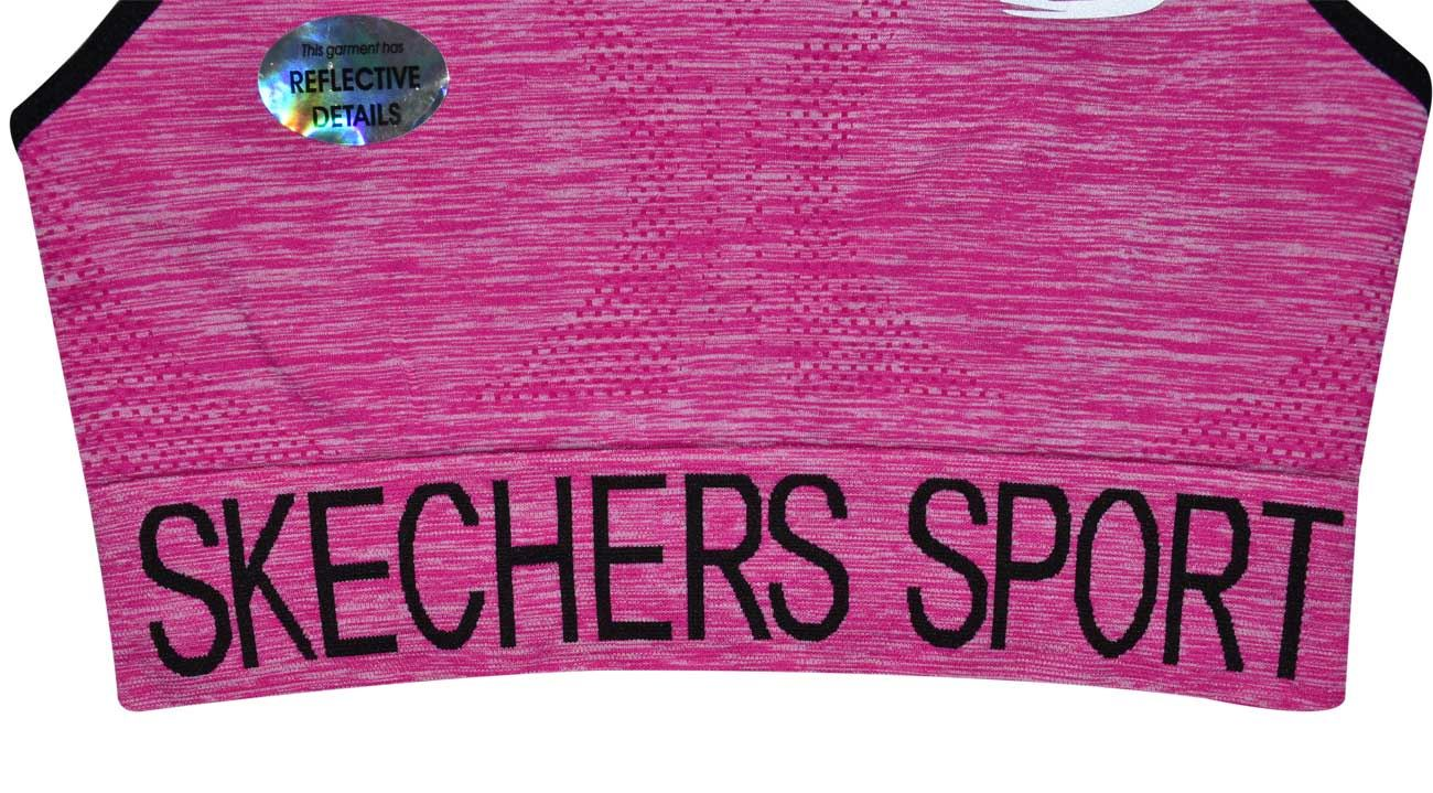 Skechers-senoras-para-mujer-Sujetador-Deportivo-Activo-Gimnasio-Correr-Top-Corto-Active-Wear miniatura 7
