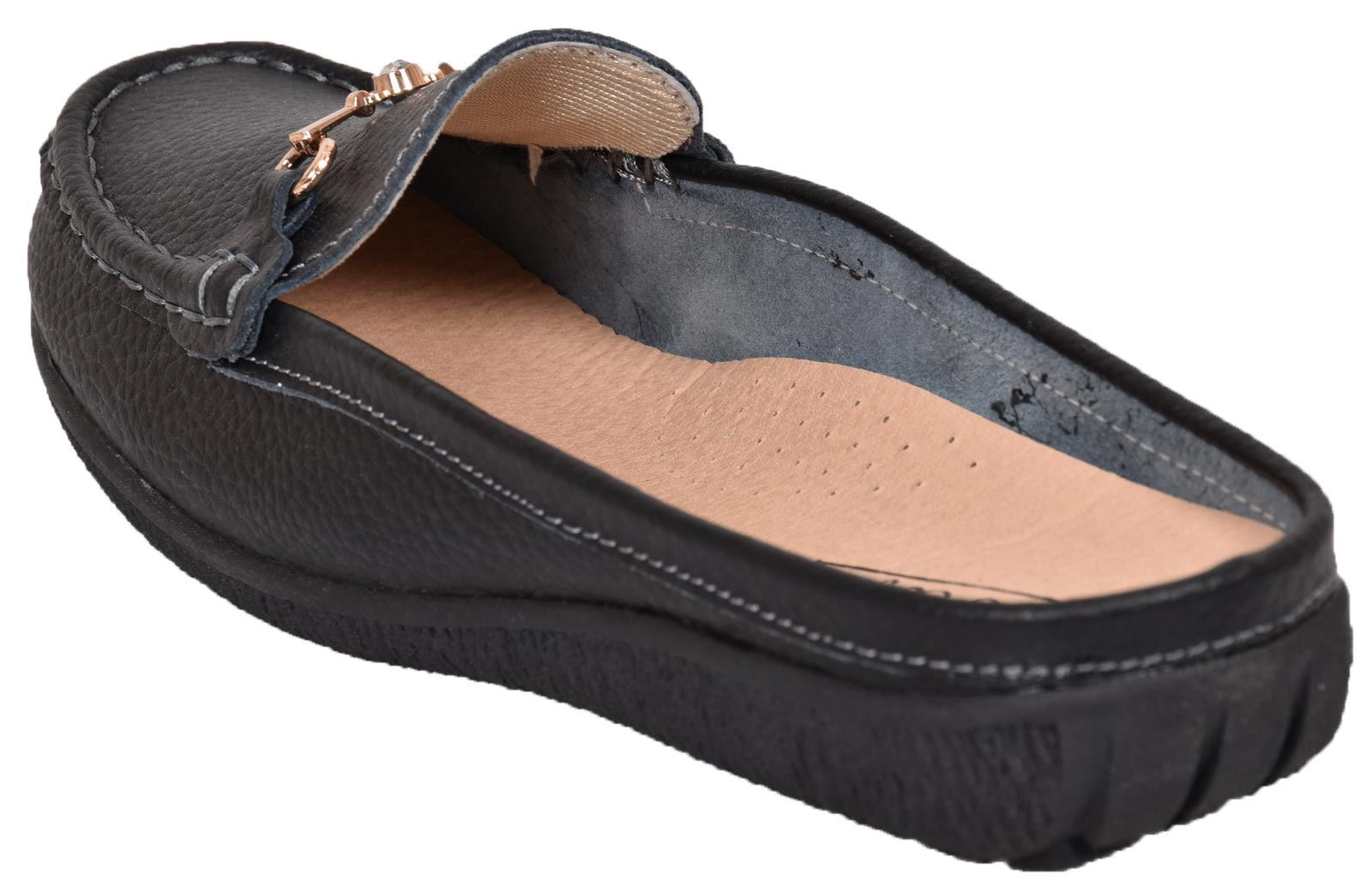 Ladies-Leather-Loafer-Mules-Comfort-Shoes-Womens-Slider-Moccasins-Shoes thumbnail 17