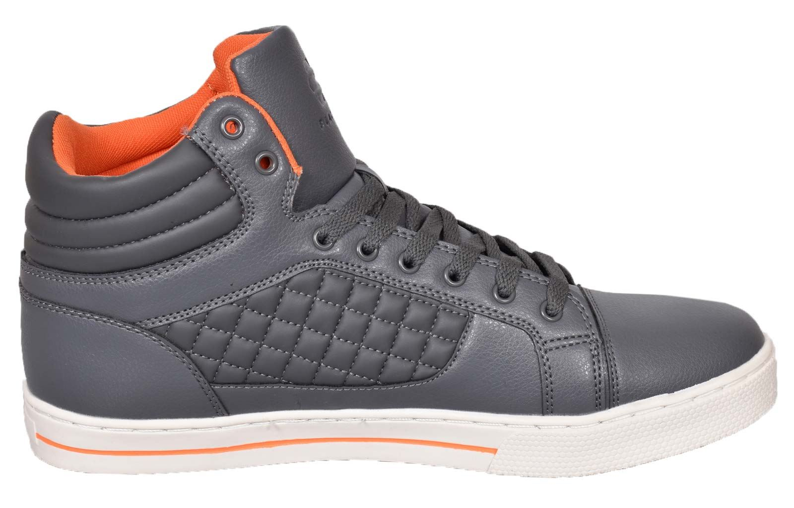Mens-Trainers-Lace-up-Crosshatch-High-Tops-Ankle-Padded-Shoes-New-UK-Sizes-7-12 thumbnail 13