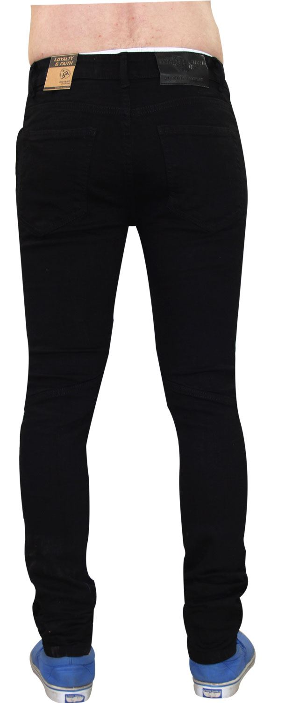 Para-Hombre-Biker-Skinny-Jeans-lealtad-amp-Faith-Slim-Fit-Pantalones-Ajustados-Pantalones-rasgada miniatura 10
