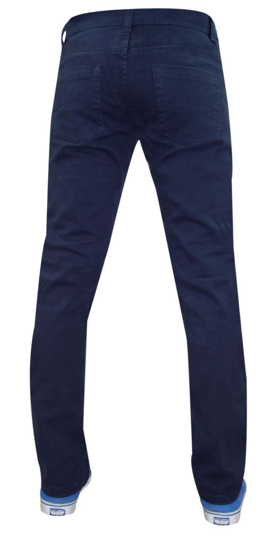 Mens-Jeans-Ajustados-Slim-Fit-Denim-Sarga-de-algodon-elastico-Pantalones-Chinos-Pantalones miniatura 17