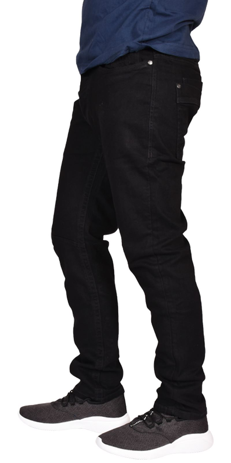Mens-Crosshatch-Branded-Jeans-Stretch-Slim-Fit-Straight-Leg-Cotton-Denim-Pants
