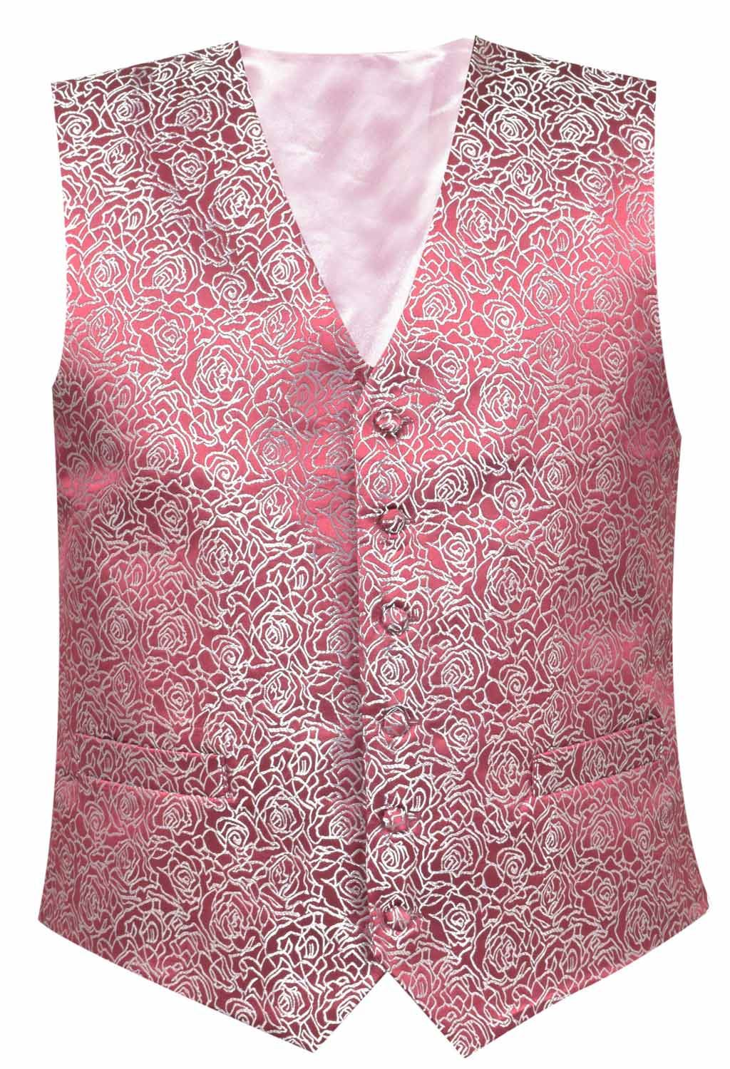 Mens Waistcoat Business Tops Suit Vest Wedding Formal Casual Print ...