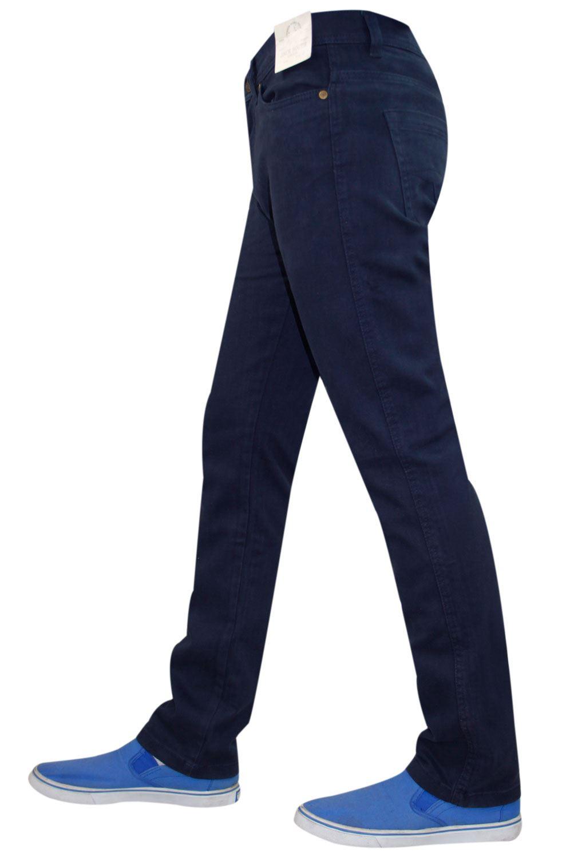 Mens-Jeans-Ajustados-Slim-Fit-Denim-Sarga-de-algodon-elastico-Pantalones-Chinos-Pantalones miniatura 18