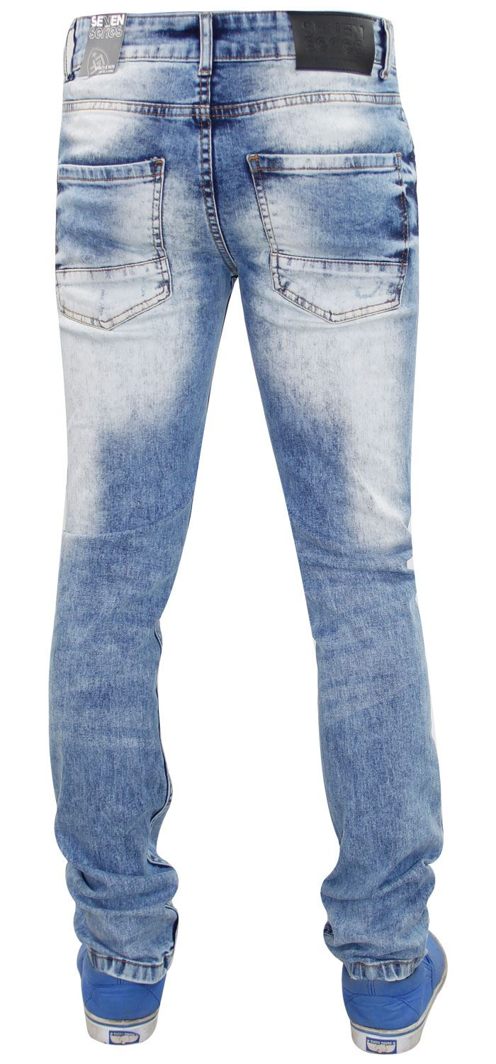 Mens-Ripped-Jeans-Slim-Fit-Skinny-Denim-Stretch-Pants-Cotton-Trousers-28-to-38 thumbnail 8