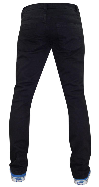 Mens-Jeans-Ajustados-Slim-Fit-Denim-Sarga-de-algodon-elastico-Pantalones-Chinos-Pantalones miniatura 14