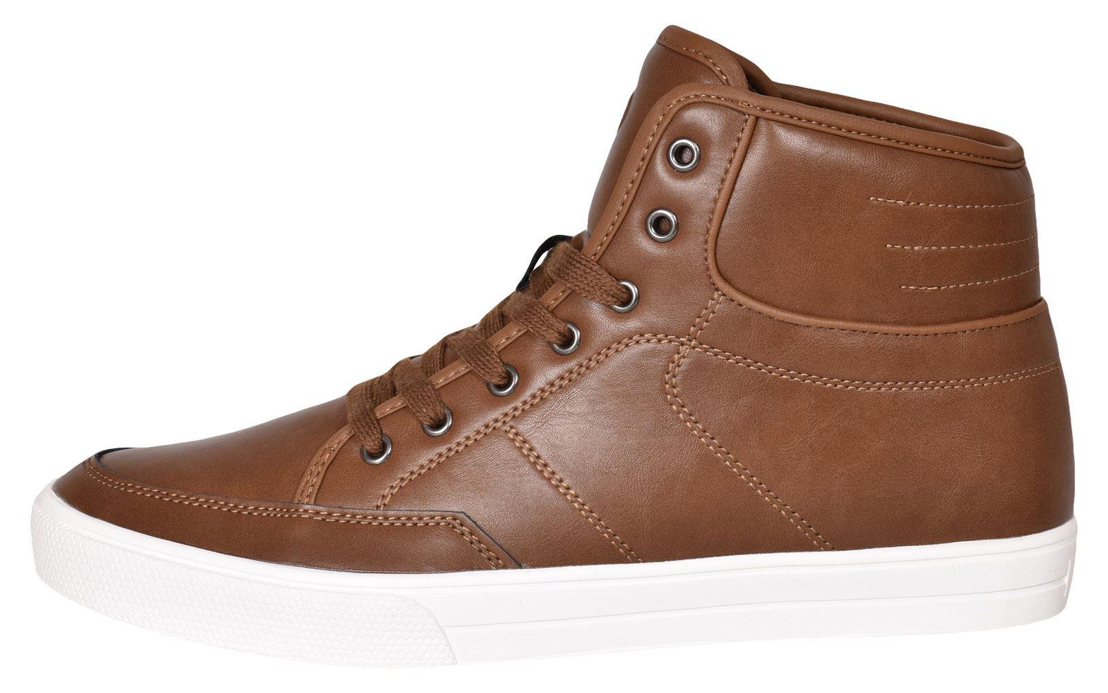 Crosshatch-Para-hombre-Tobillo-Alto-Zapatillas-Sneaker-Con-Cordones-Tapas-Planas-Botas-UK-Tamanos-7 miniatura 26