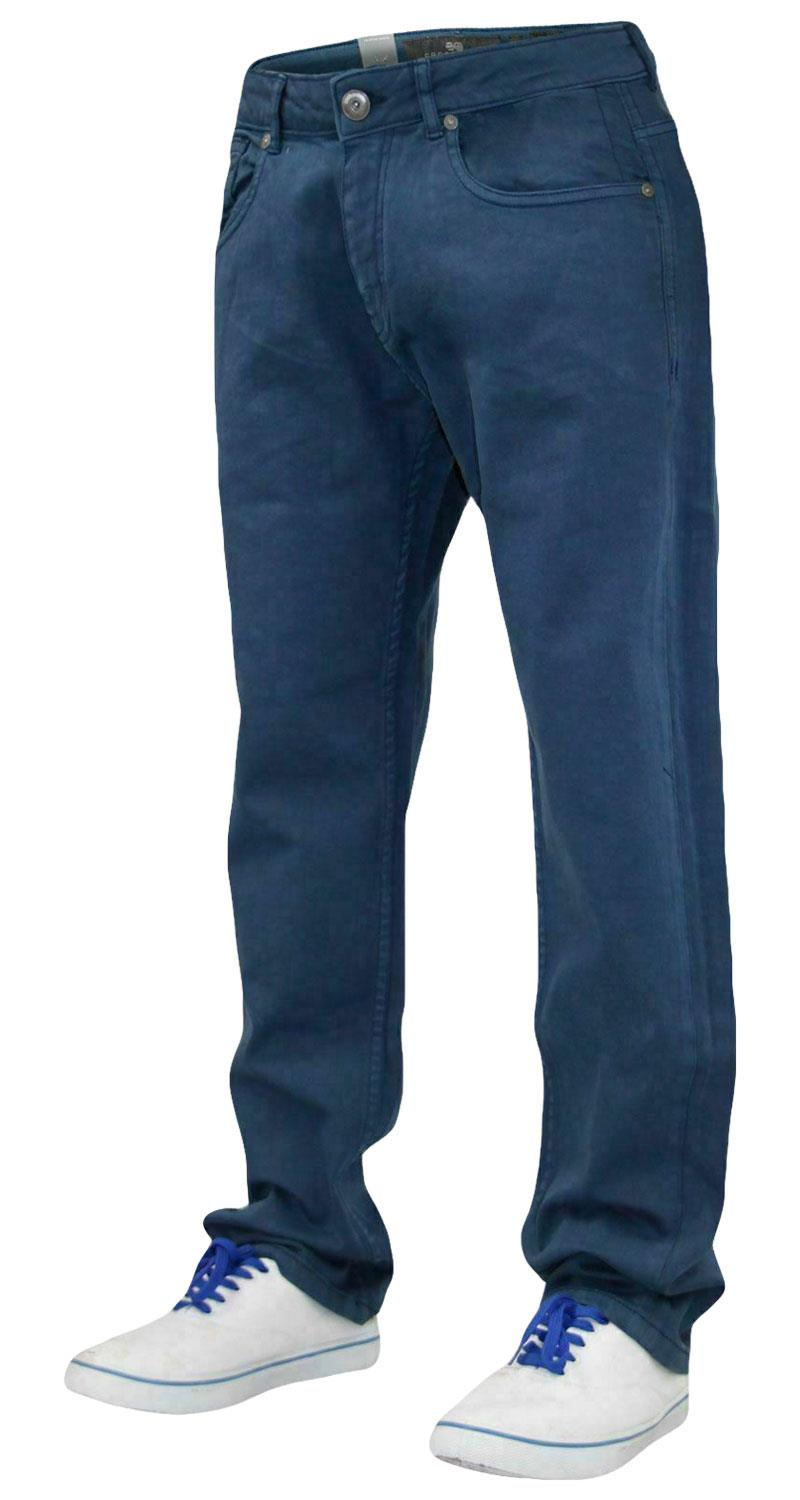 Mens-Slim-Fit-Pantalones-Pantalones-Vaqueros-Crosshatch-Stretch-Denim-Cintura-Tallas-30-38 miniatura 12
