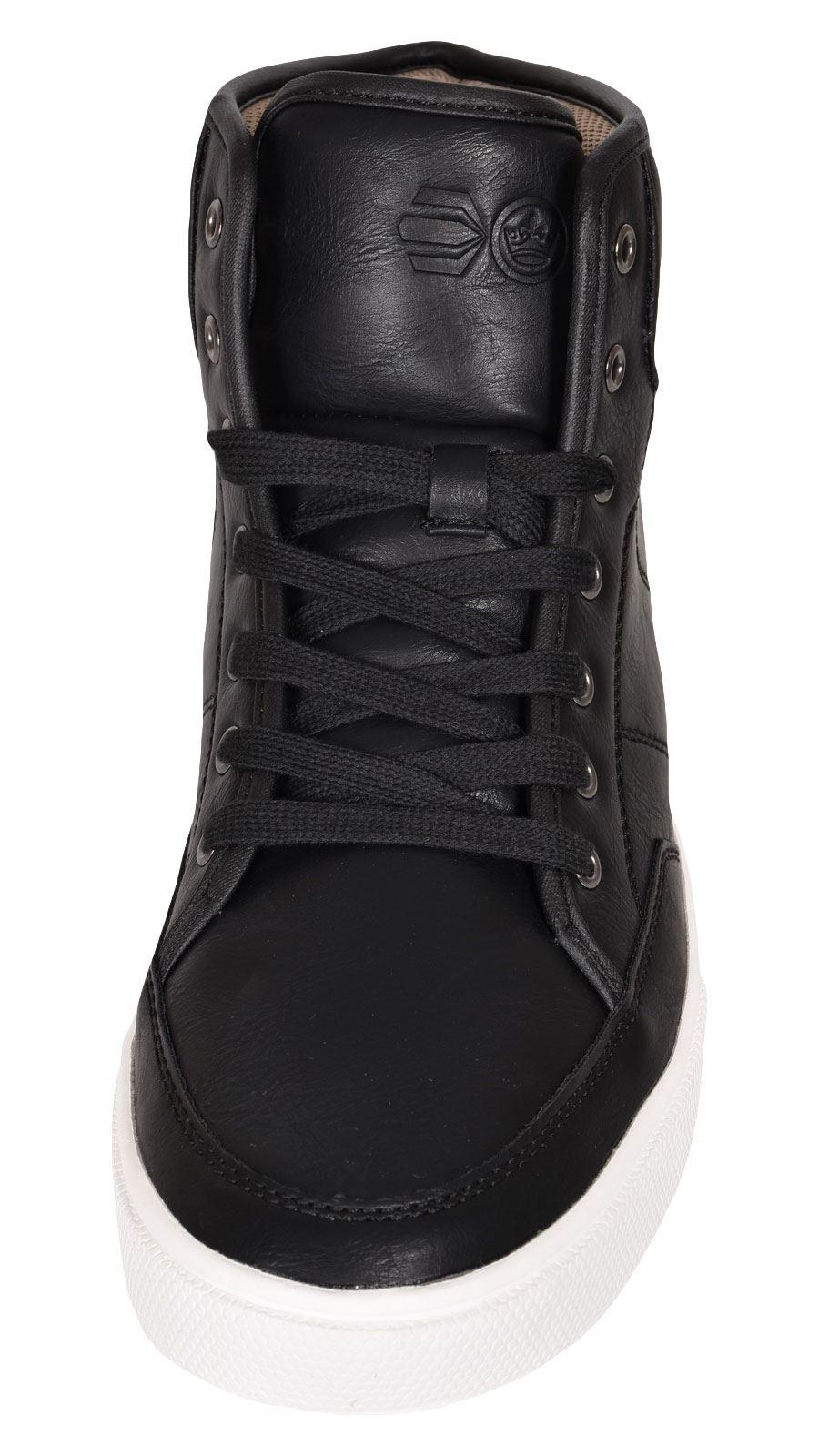Crosshatch-Para-hombre-Tobillo-Alto-Zapatillas-Sneaker-Con-Cordones-Tapas-Planas-Botas-UK-Tamanos-7 miniatura 7