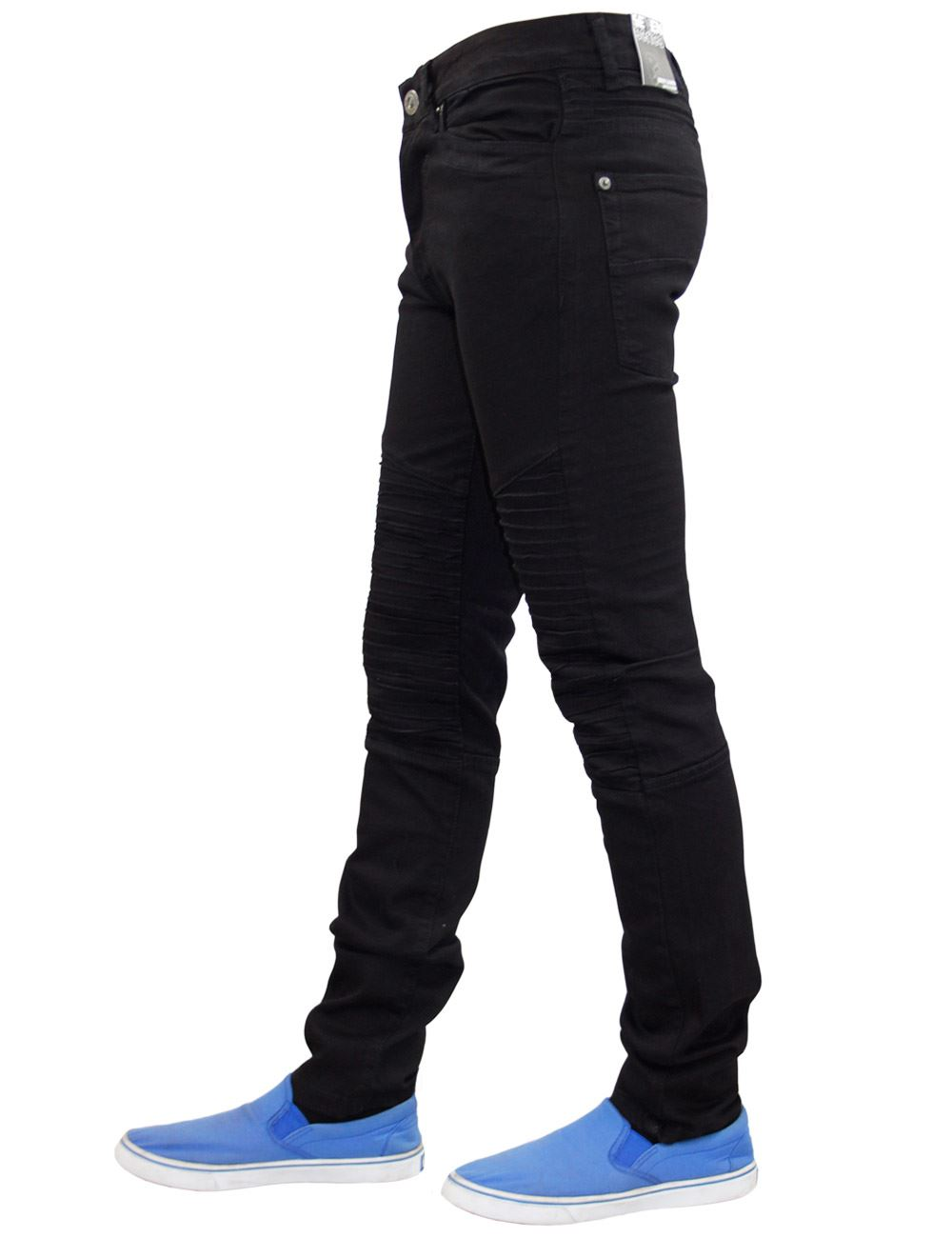 Men-Skinny-Jeans-Stretch-Slim-Fit-Zip-Fly-Denim-Biker-Pants-Trousers-Sizes-28-38 thumbnail 4