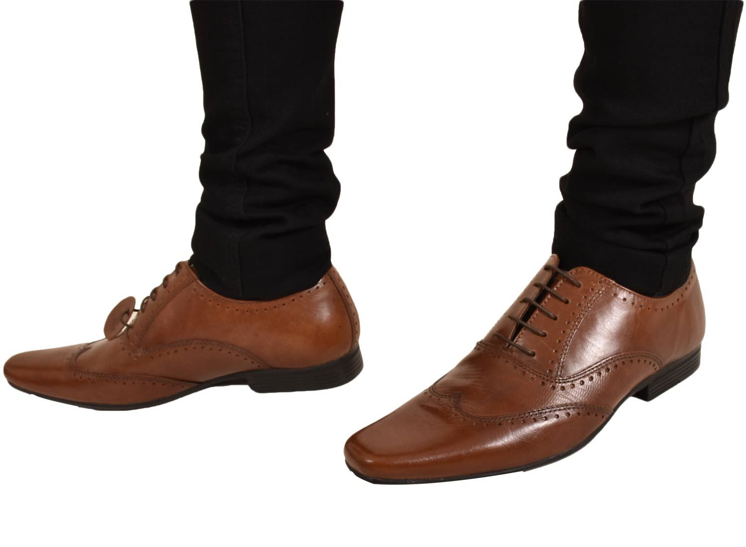 Mens-UK-Style-Leather-Lining-Formal-Office-Wedding-Smart-Work-Brogue-Shoes thumbnail 41