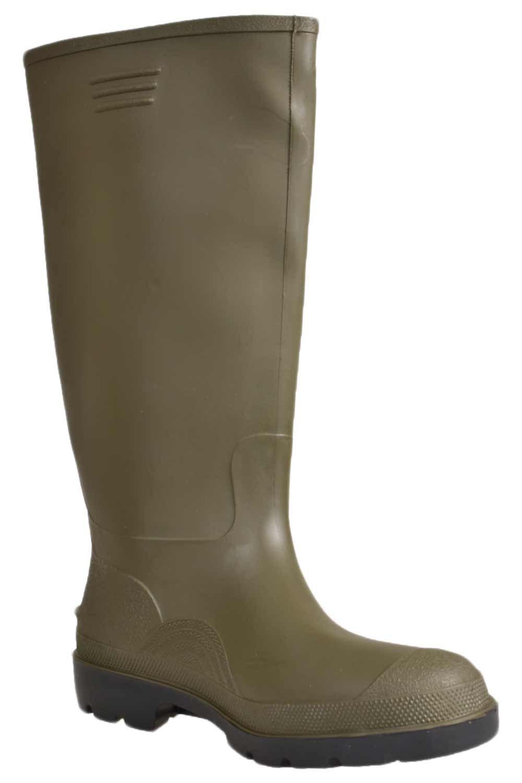 Detalles de Hombre Dunlop Botas de Agua Mujer hasta la Rodilla Trabajo Impermeable Mugrero