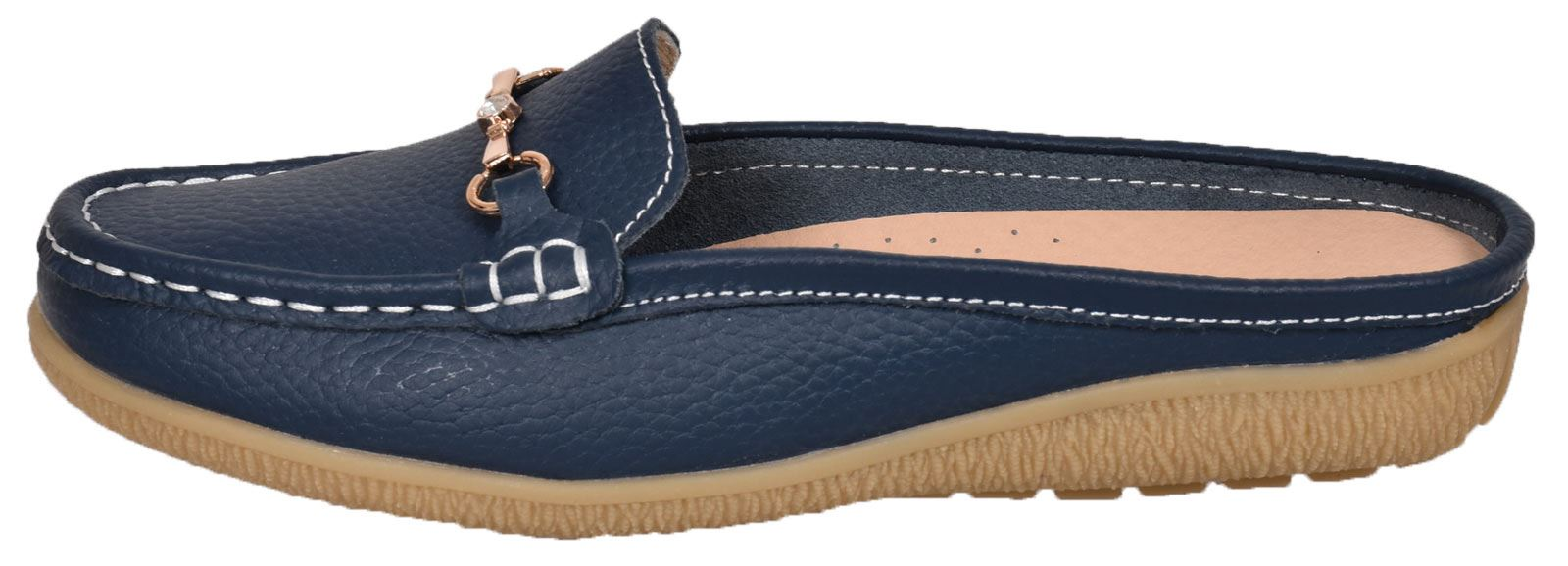 Ladies-Leather-Loafer-Mules-Comfort-Shoes-Womens-Slider-Moccasins-Shoes thumbnail 23