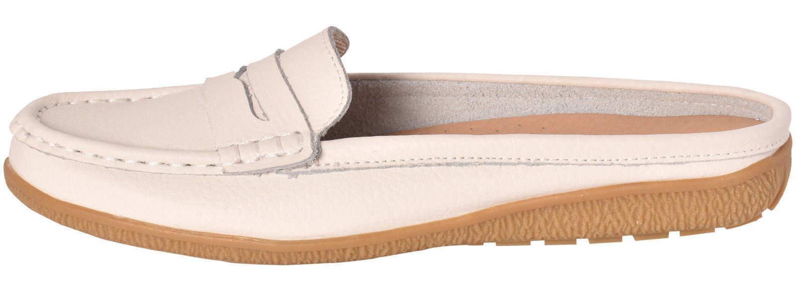 Ladies-Leather-Loafer-Mules-Comfort-Shoes-Womens-Slider-Moccasins-Shoes thumbnail 38