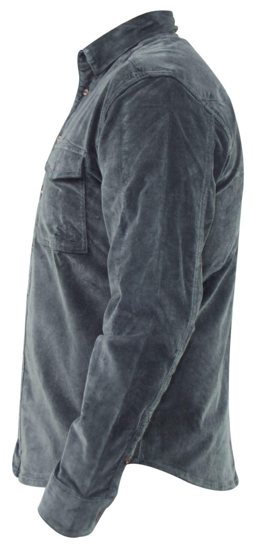 Mens-Corduroy-Cotton-Shirt-Long-Sleeve-Casual-Shirts-Jacksouth-Jacket-Top-S-2XL thumbnail 10