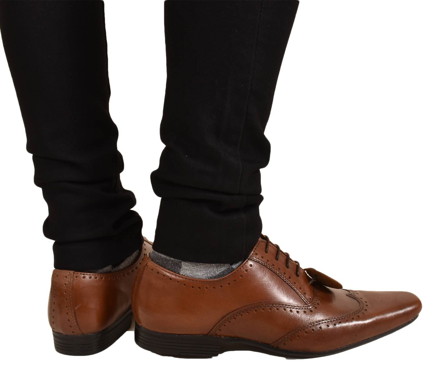 Mens-UK-Style-Leather-Lining-Formal-Office-Wedding-Smart-Work-Brogue-Shoes thumbnail 43