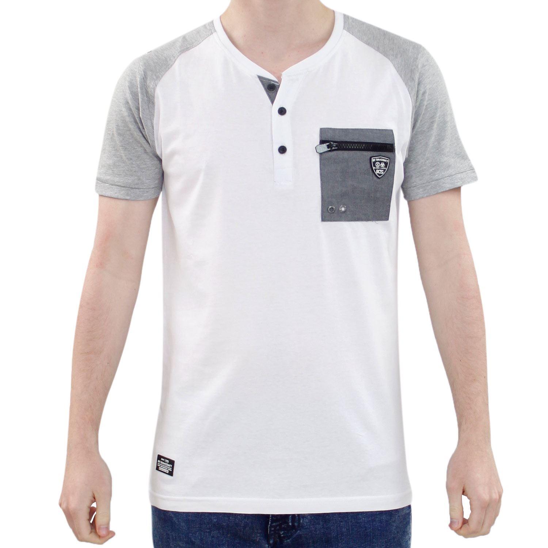 Rawcraft Mens T Shirt Chest Pocket Crew Neck Short Sleeve Cotton Shirt Tee Top