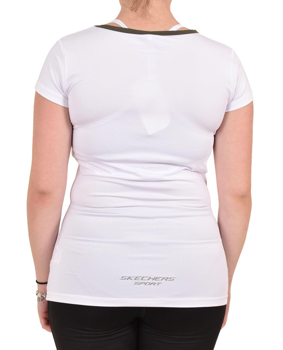 Camiseta-para-mujer-Skechers-Secado-Rapido-Top-senoras-de-Deportes-Activewear-Gimnasio-Fitness-Dance miniatura 13