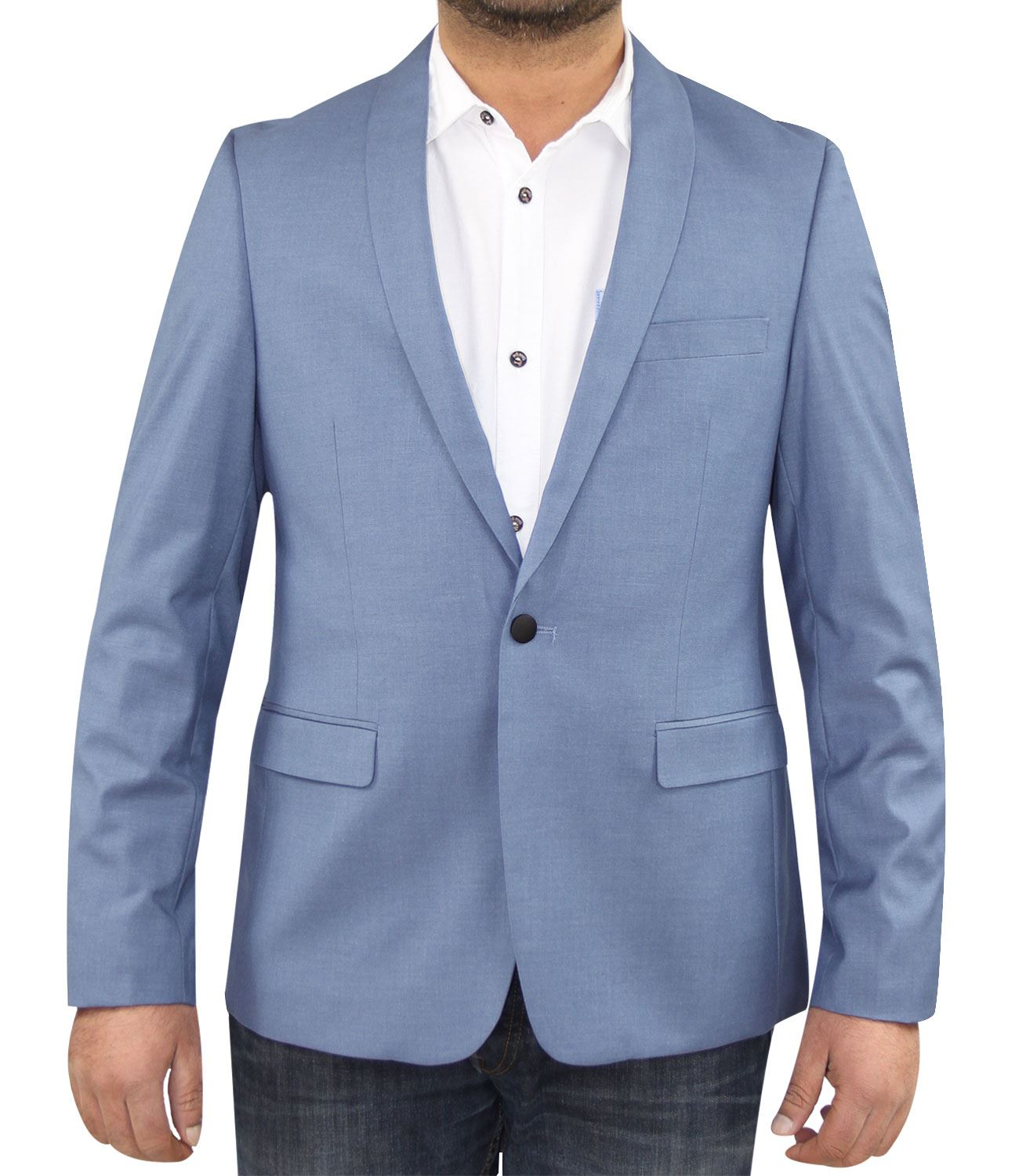 Mens New Formal Stretchable Slim Fit Suit Wedding Party Blazer ...