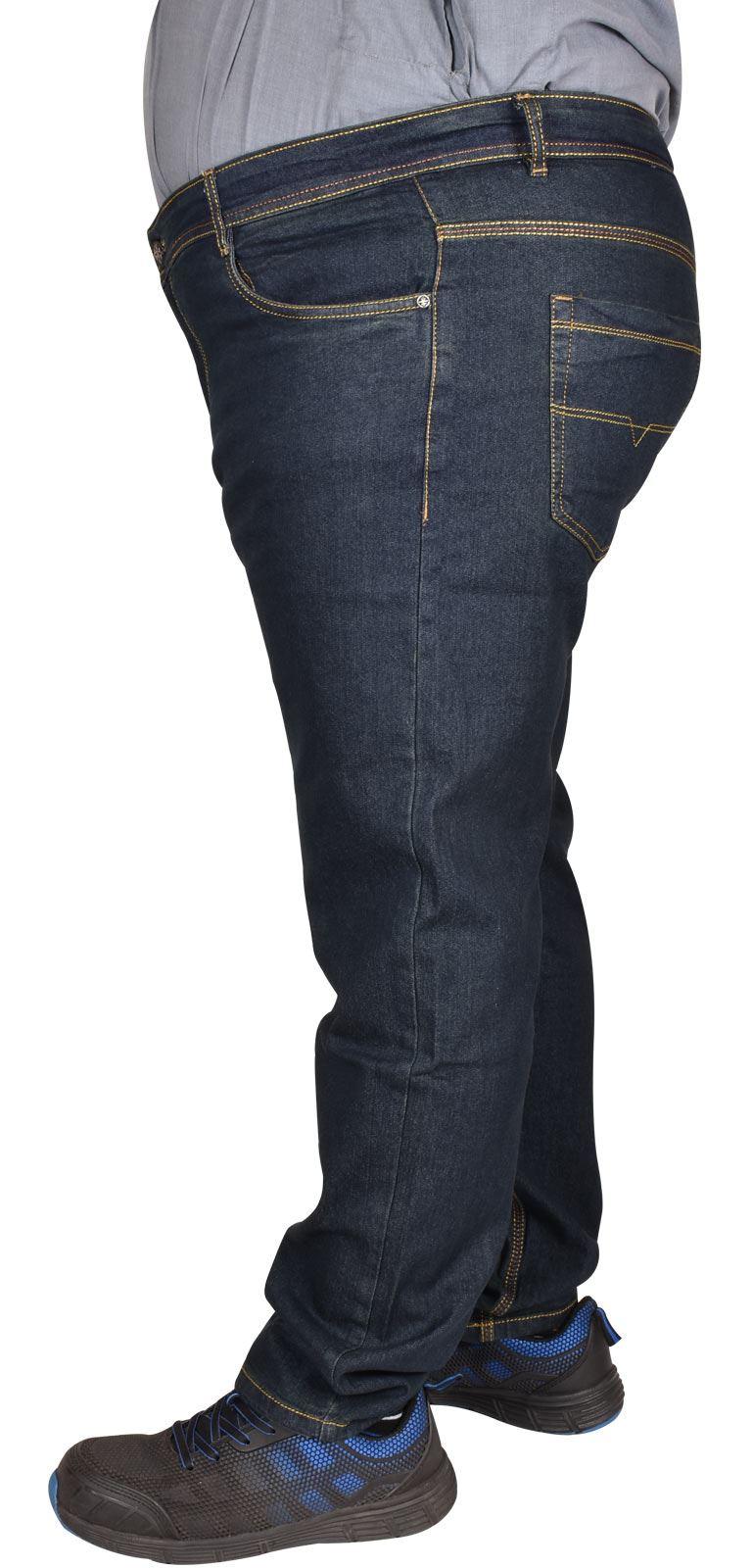 Men-Jeans-Straight-Leg-Stretch-Denim-Trouser-Pants-All-Waist-Big-Tall-King-Sizes thumbnail 6