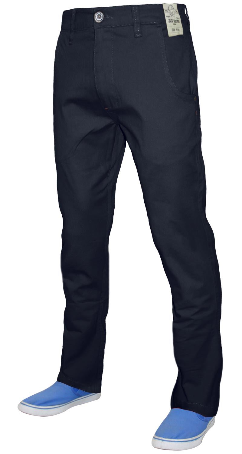 Men-Chinos-Regular-Fit-Jeans-Cotton-Stretch-Casual-Pants-Trousers-All-Waist-Size thumbnail 9