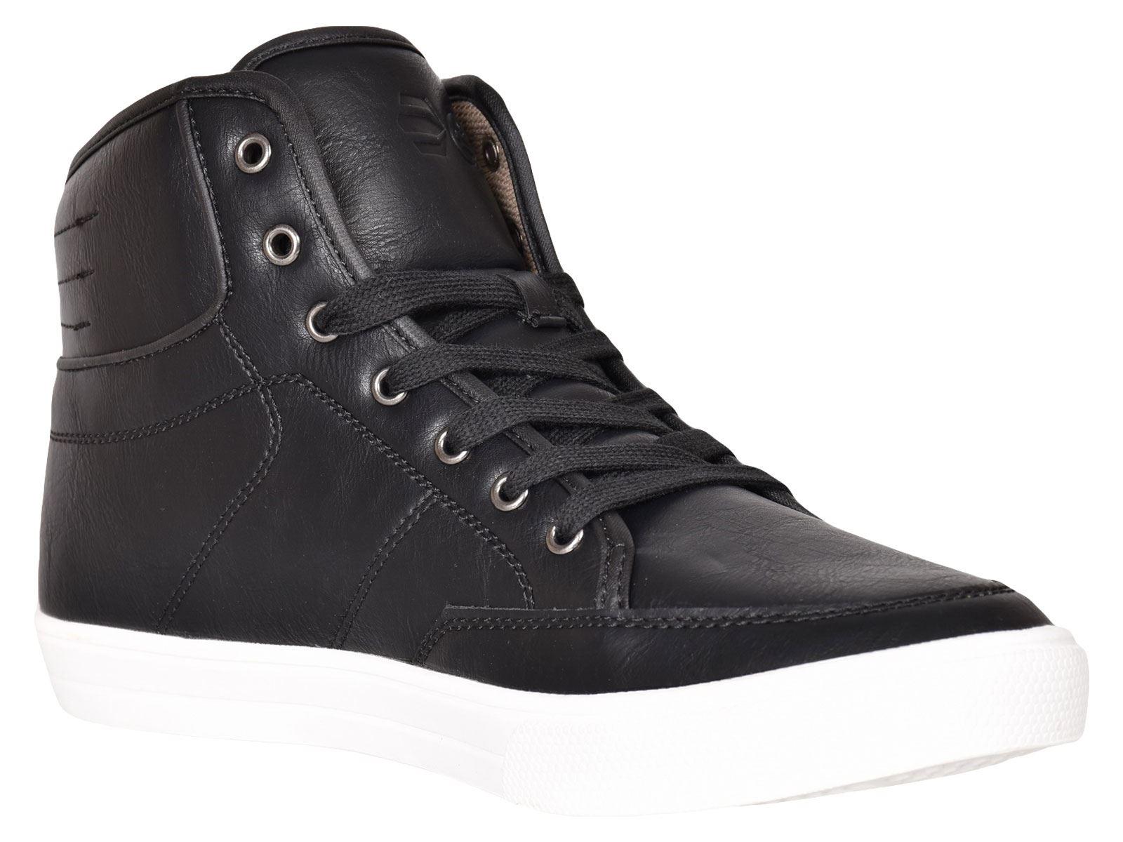 Crosshatch-Para-hombre-Tobillo-Alto-Zapatillas-Sneaker-Con-Cordones-Tapas-Planas-Botas-UK-Tamanos-7 miniatura 6
