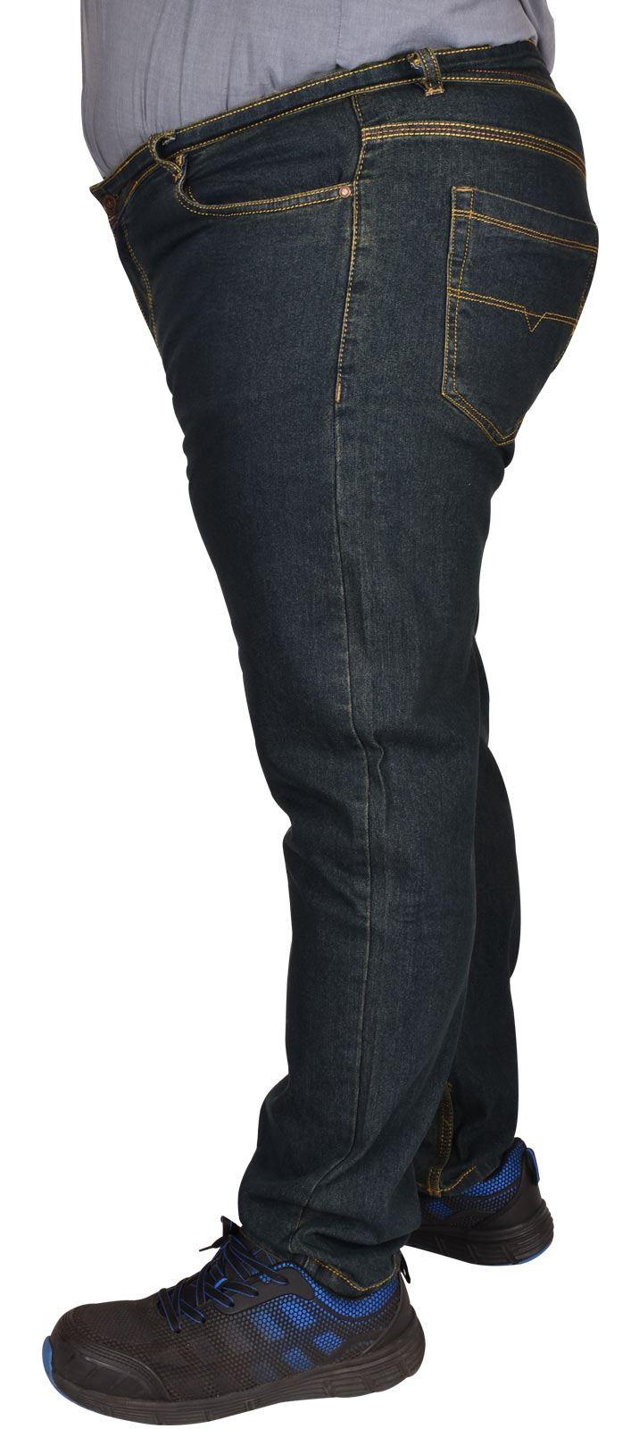Men-Jeans-Straight-Leg-Stretch-Denim-Trouser-Pants-All-Waist-Big-Tall-King-Sizes thumbnail 3