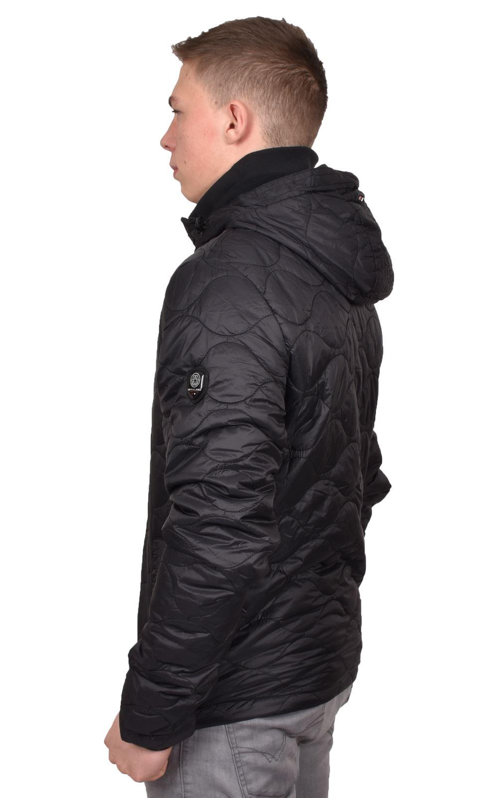 Mens-Smith-amp-Jones-Jacket-Full-Zip-Fleece-Lined-Hooded-Light-Weight-Warm-Coat thumbnail 4
