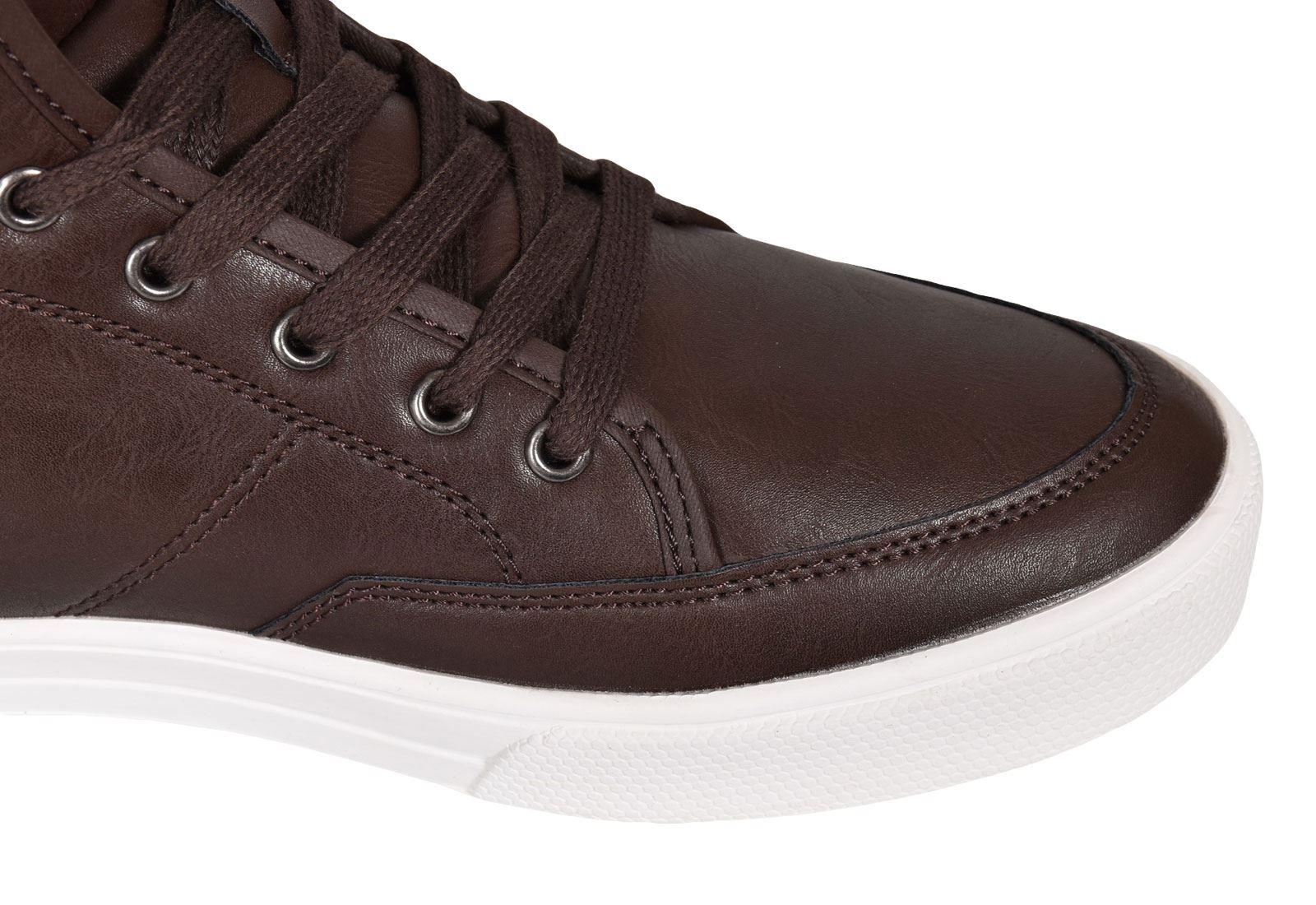 Crosshatch-Para-hombre-Tobillo-Alto-Zapatillas-Sneaker-Con-Cordones-Tapas-Planas-Botas-UK-Tamanos-7 miniatura 56
