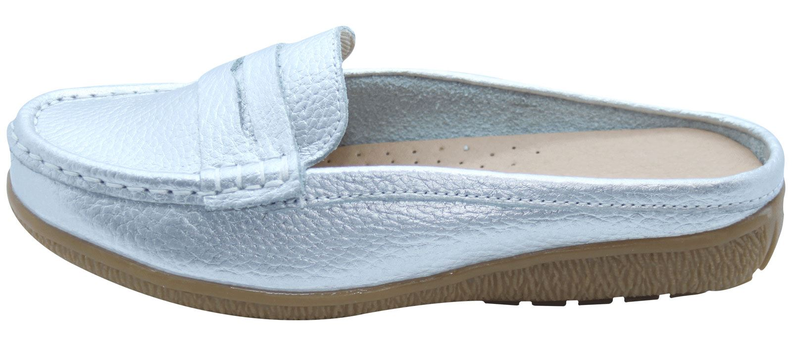 Ladies-Leather-Loafer-Mules-Comfort-Shoes-Womens-Slider-Moccasins-Shoes thumbnail 33