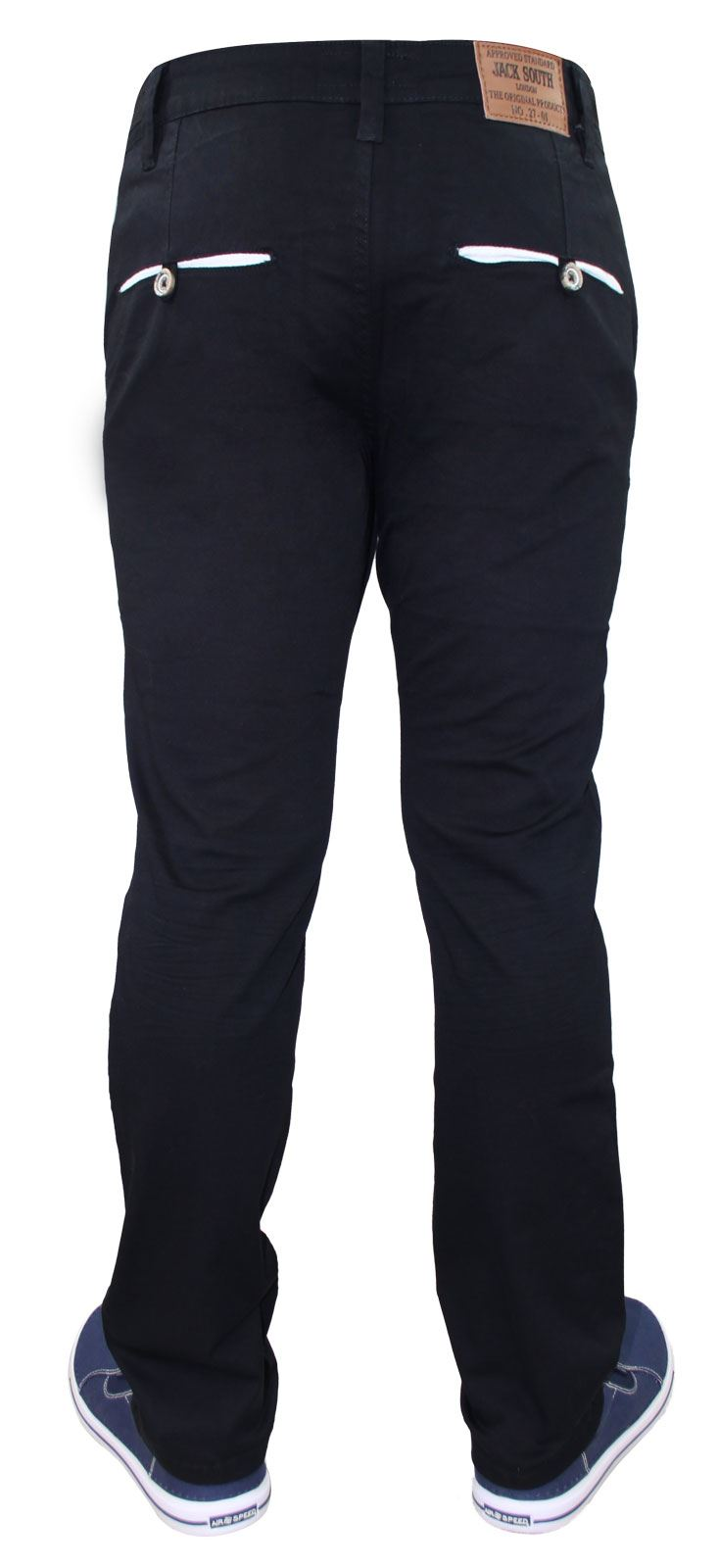 Men-Chinos-Trousers-Regular-Fit-Stretch-Cotton-Jeans-Pants-All-Waist-Sizes thumbnail 14