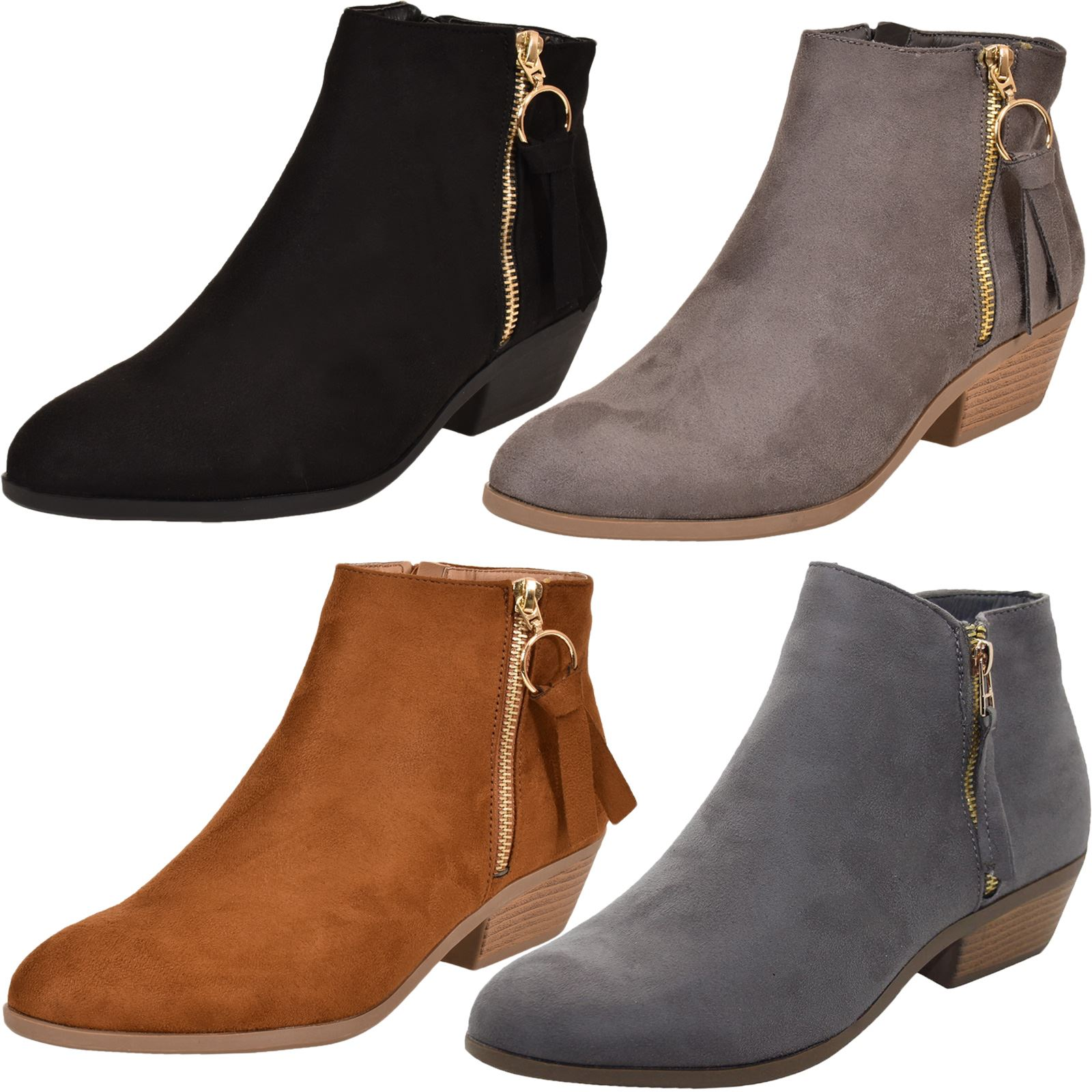 womens low to mid heel ankle boots