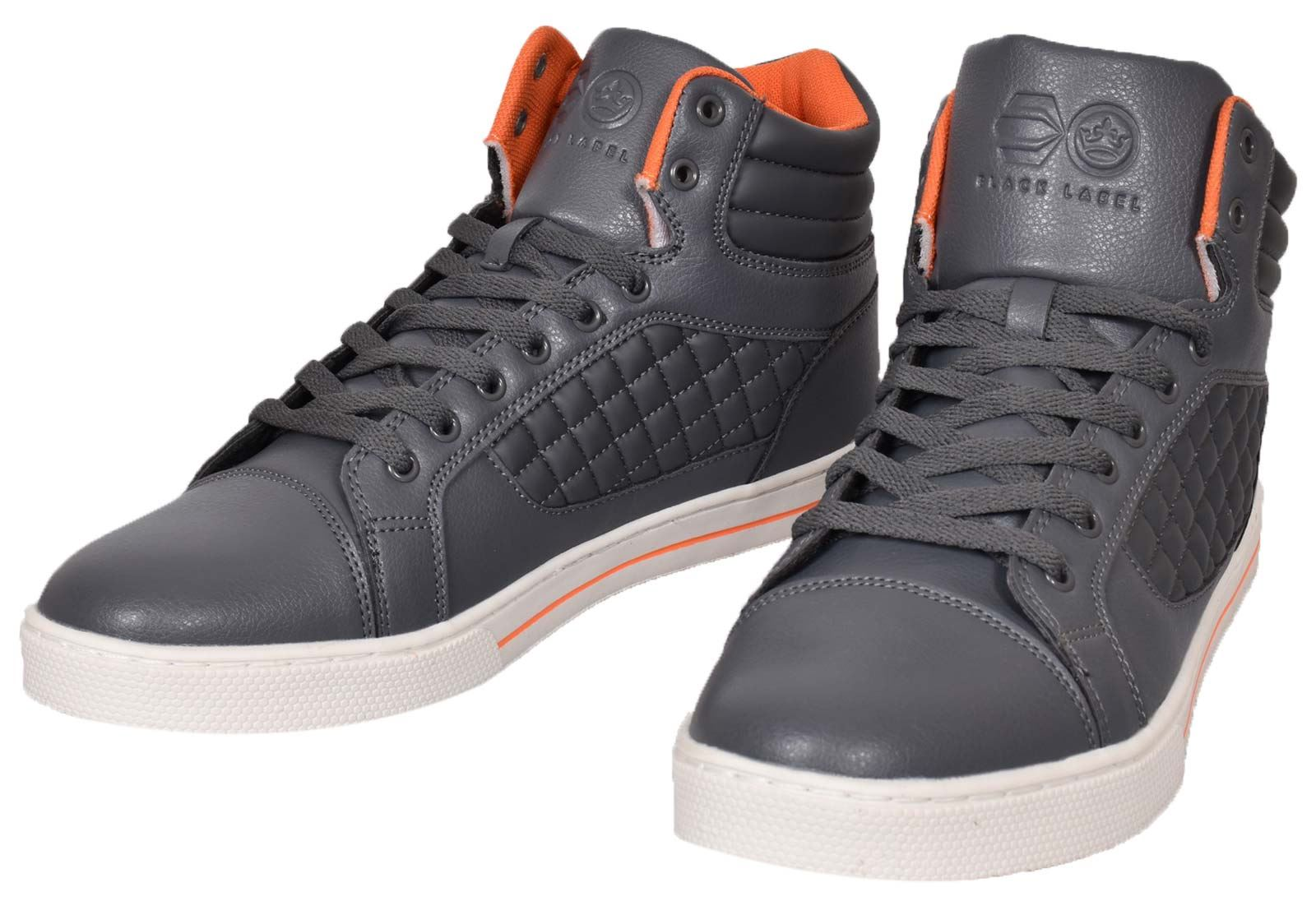 Mens-Trainers-Lace-up-Crosshatch-High-Tops-Ankle-Padded-Shoes-New-UK-Sizes-7-12 thumbnail 11