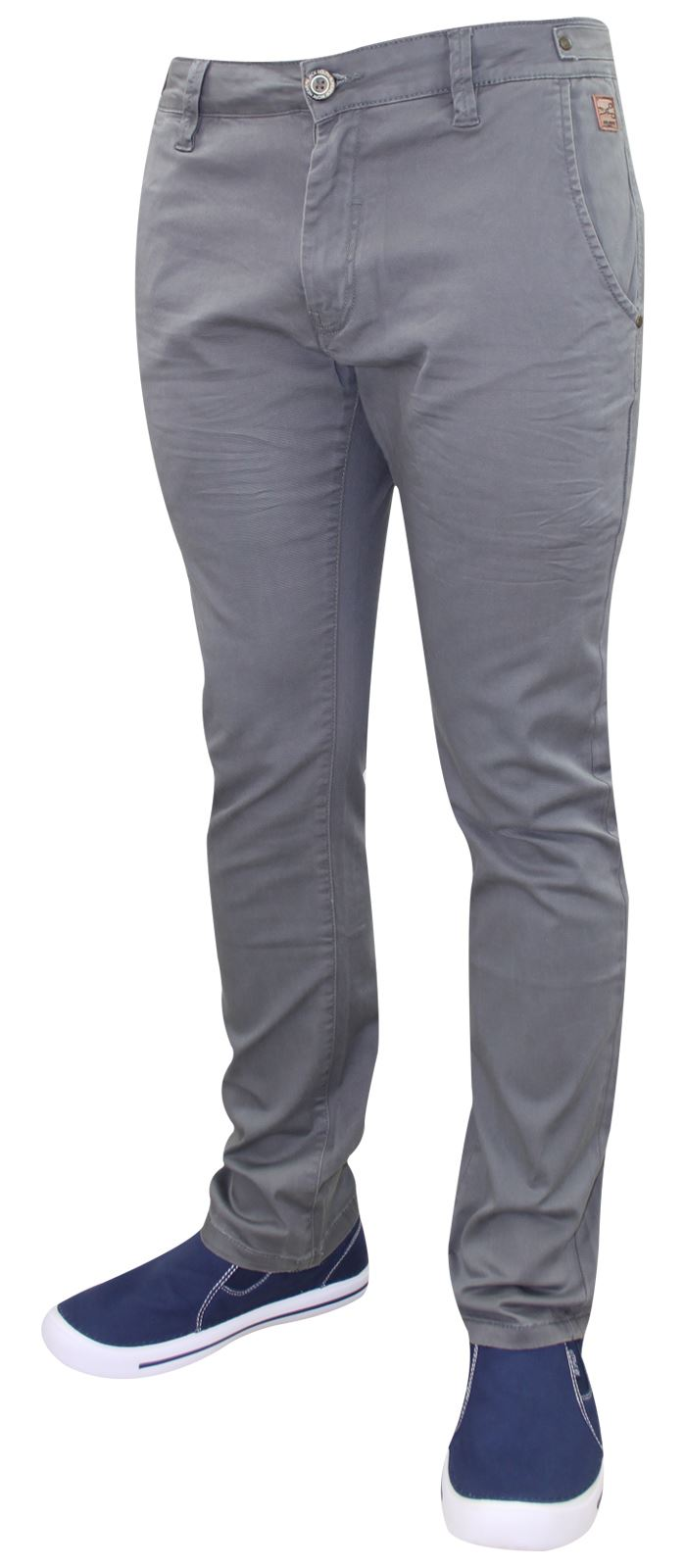 Men-Chinos-Trousers-Regular-Fit-Stretch-Cotton-Jeans-Pants-All-Waist-Sizes thumbnail 7