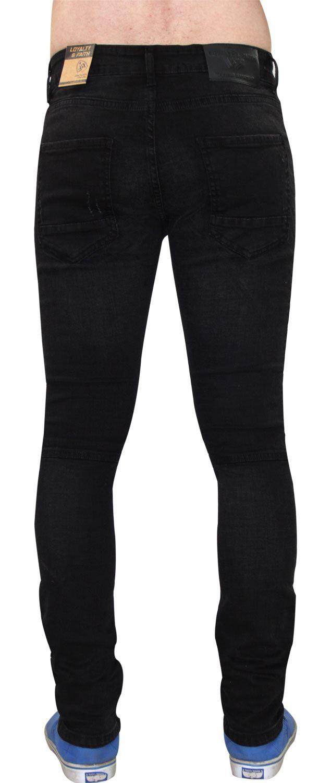 Para-Hombre-Biker-Skinny-Jeans-lealtad-amp-Faith-Slim-Fit-Pantalones-Ajustados-Pantalones-rasgada miniatura 5