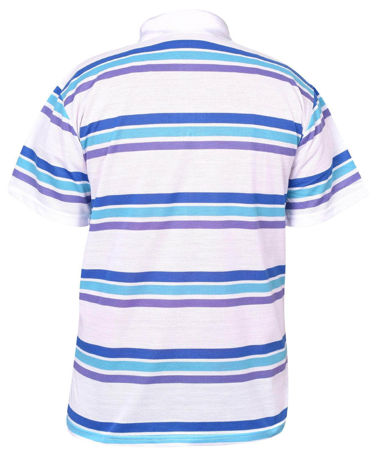 Mens-T-Shirts-Yarn-Dyed-Strip-Pocket-Polo-Shirt-Top-Multi-Colour-Size-M-3XL thumbnail 16