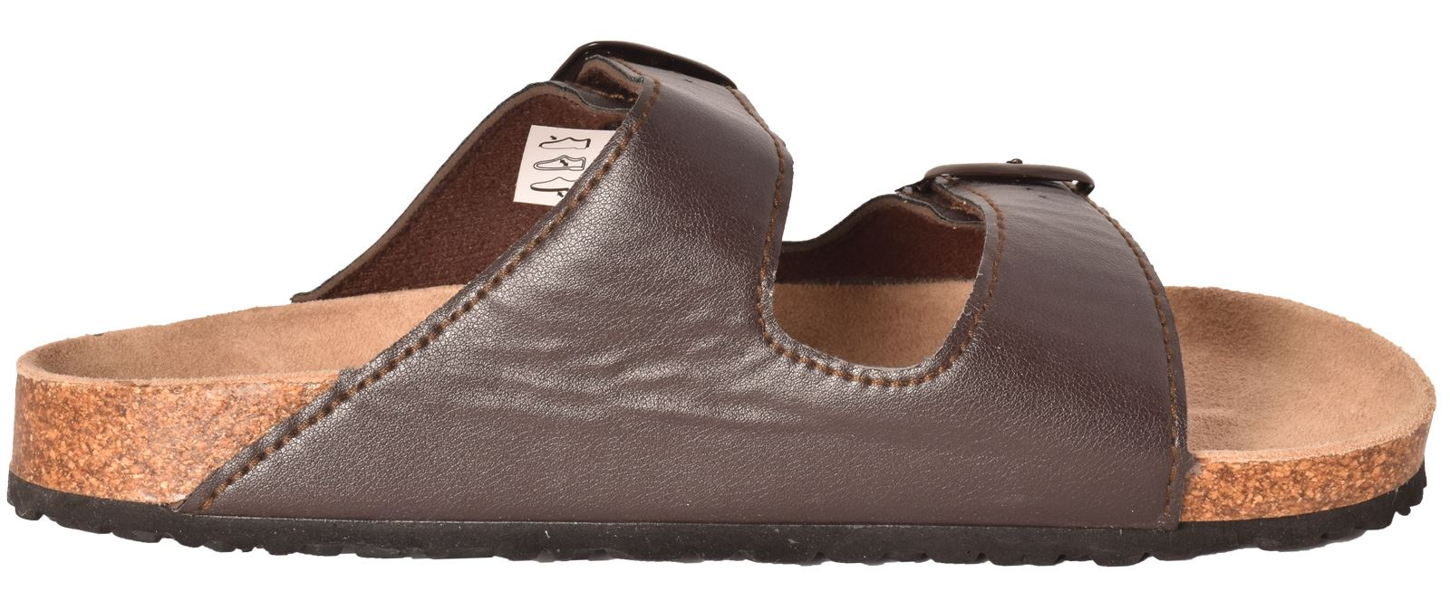 63c90fba485d Mens Slider Mules Slip-on Sandal Leather Insock Foot Bed Beach Comfy ...
