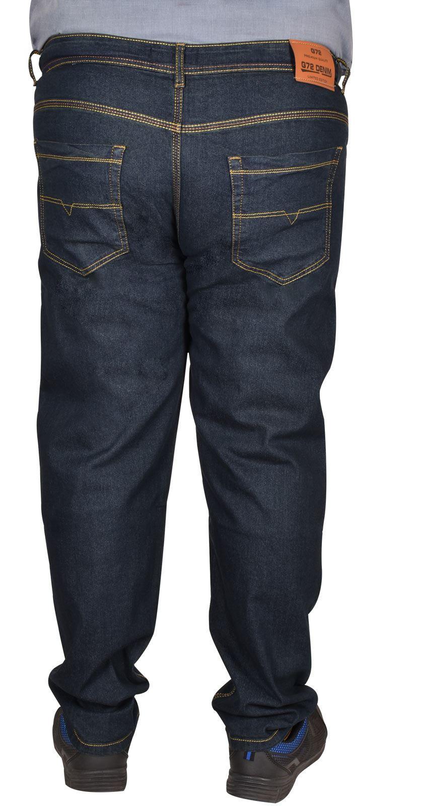 Men-Jeans-Straight-Leg-Stretch-Denim-Trouser-Pants-All-Waist-Big-Tall-King-Sizes thumbnail 7