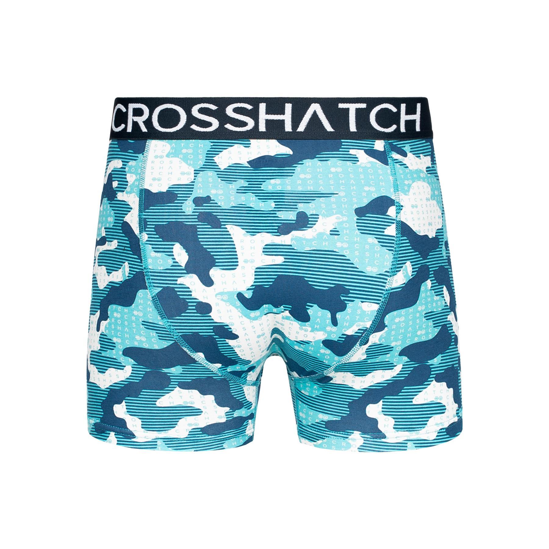 thumbnail 61 - Mens Crosshatch Boxers 3 Pack Shorts Underwear Trunks Underpants Multipack Sets