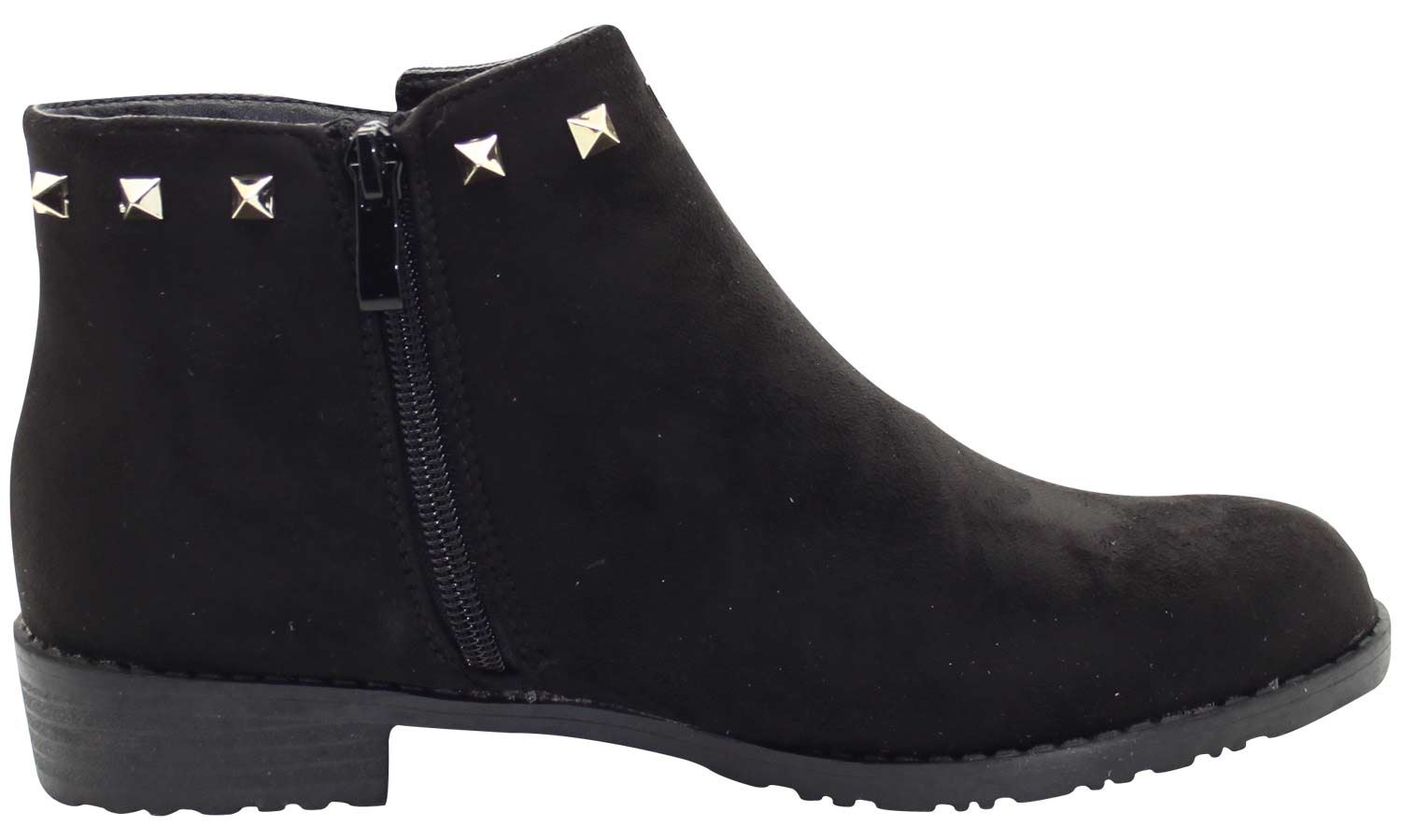 New-Women-Chelsea-Ankle-Boots-Winter-Block-Heel-Ladies-Biker-Style-Boots thumbnail 20