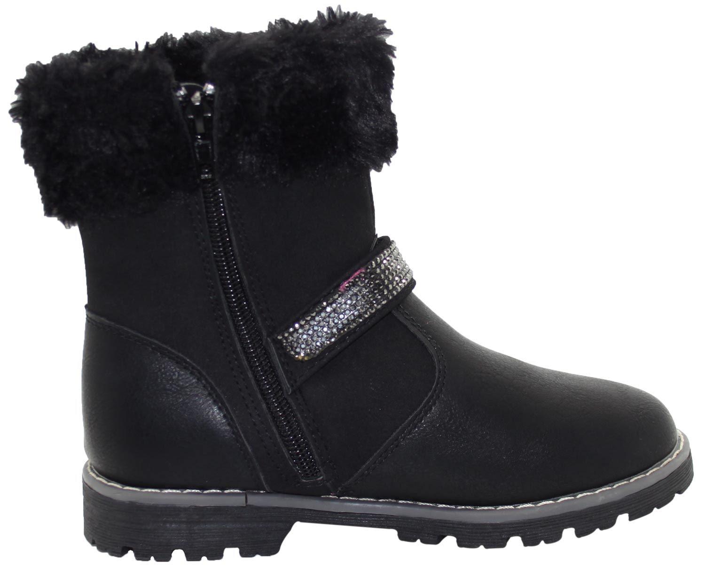 sur Talon Enfants titre fourrure synthétique le Nouveau Bottes filles en Style d'origine Cheville Détails Gypsy Plat Shoes Causal afficher Bordure 8nOZ0wkNPX