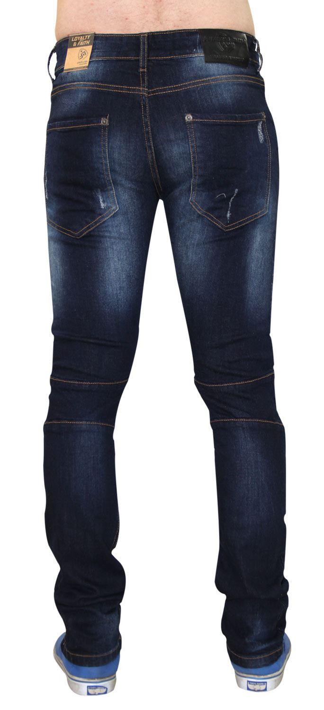 Para-Hombre-Biker-Skinny-Jeans-lealtad-amp-Faith-Slim-Fit-Pantalones-Ajustados-Pantalones-rasgada miniatura 19