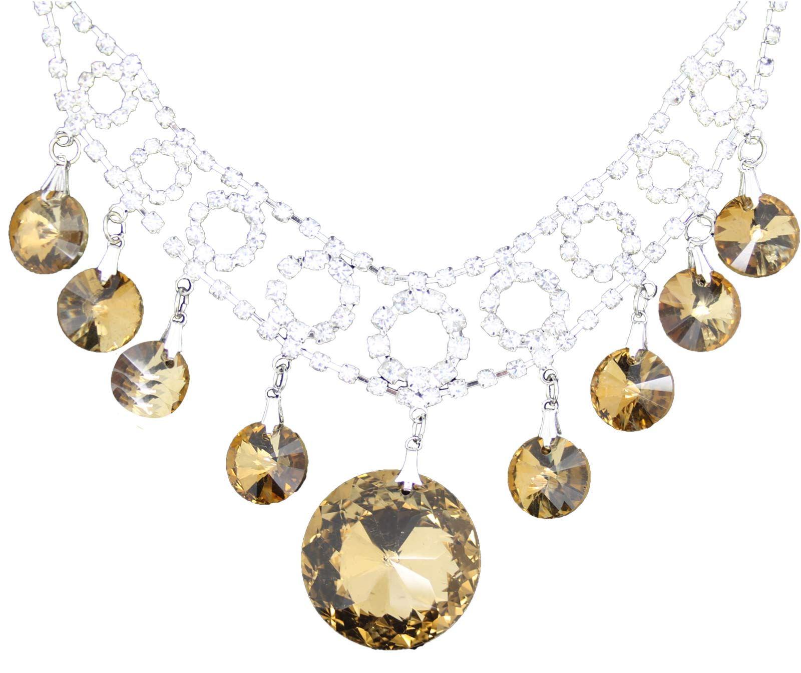 True-Face-Ladies-Women-039-s-Elegant-Earrings-Necklace-Set-Metal-Alloy-Jewellery thumbnail 10