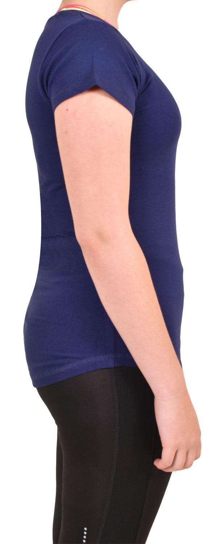 Camiseta-Para-Mujer-Elastico-Damas-Deportes-Skechers-Top-Secado-Rapido-Baile-Fitness-Gym miniatura 7