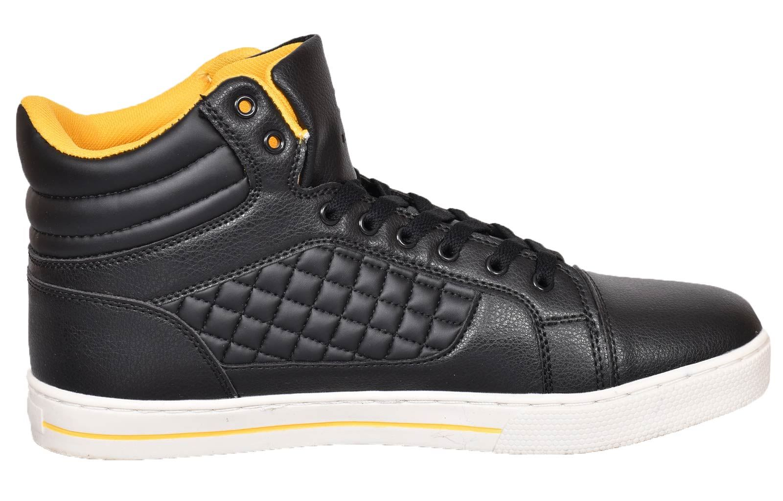 Mens-Trainers-Lace-up-Crosshatch-High-Tops-Ankle-Padded-Shoes-New-UK-Sizes-7-12 thumbnail 5